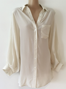 TOPSHOP MATERNITY CREAM SILK BUTTON THROUGH BLOUSE SIZE 10